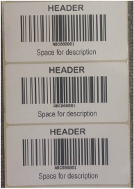 Standard case Online barcode label
