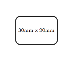 barcode label dimension