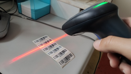 barcode scanner linear label