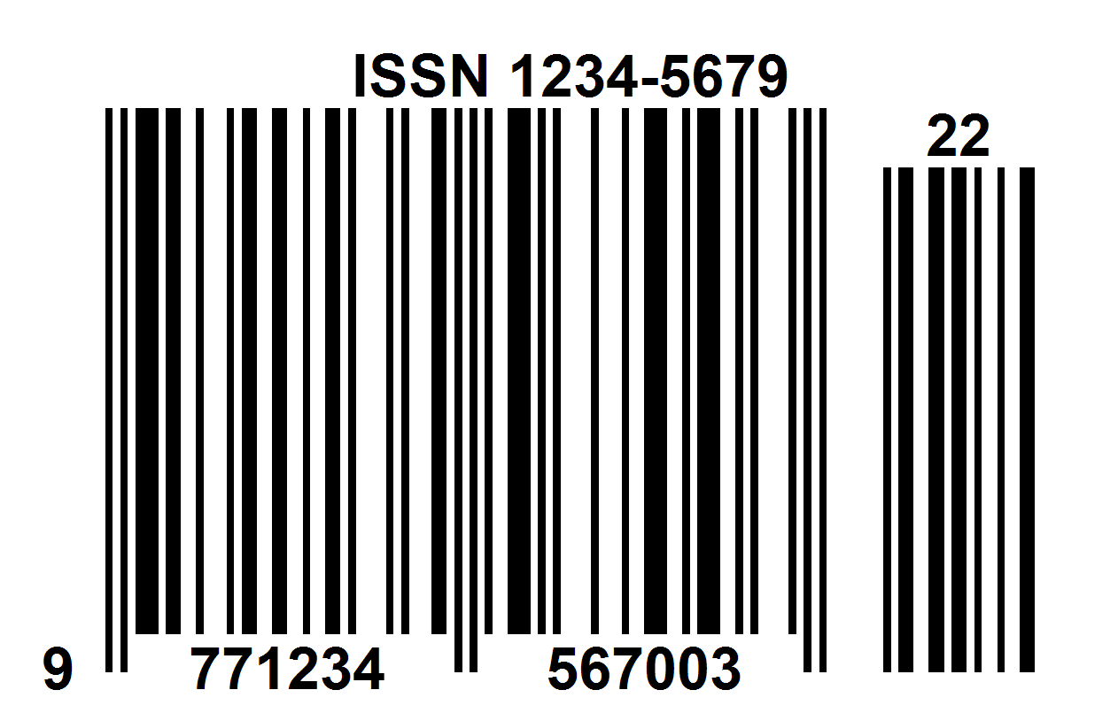 ISSN barcode for newspaper